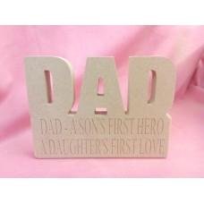18mm MDF Dad Plaque Dad A Son'sFirst
